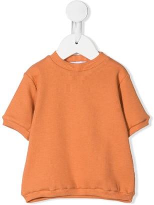 Eshvi Kids ribbed round neck T-shirt