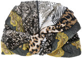 Antonio Marras mixed fabric wrap hat - women - Polyester - One Size