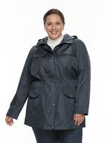 Croft & Barrow Plus Size ̈ Hooded Drawstring Anorak Jacket