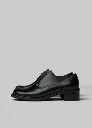 AMOMENTO Women's Derby Shoes in Black Size 6 Leather/Rubber