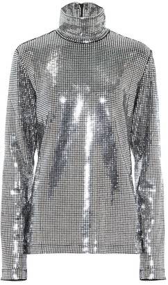 MM6 MAISON MARGIELA Sequined mockneck top