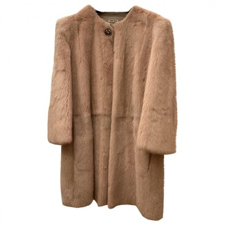 Miu Miu Pink Beaver Coat for Women