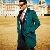 Charles Tyrwhitt Slim fit green raincoat