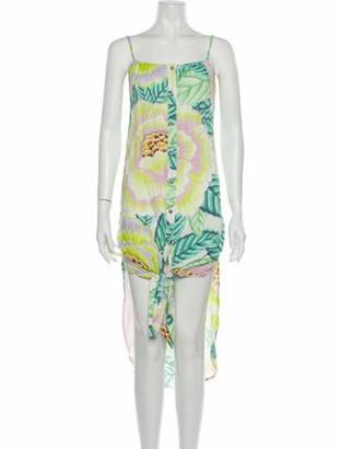 Mara Hoffman Floral Print Midi Length Dress w/ Tags Green
