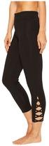 Yummie - Cotton Control Skimmer Leggings with Leg Detail Women's Casual Pants