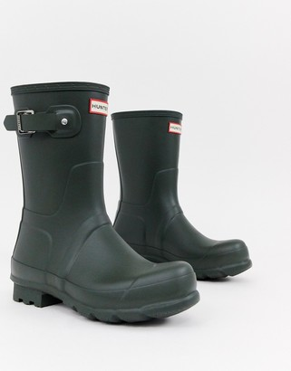 Hunter short wellies in green