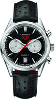 Tag Heuer CV211DFC6310 Carrera calibre 17 round leather strap watch