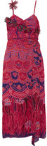 Anna Sui Zandra Printed Crinkled Silk-chiffon Maxi Dress - Pink