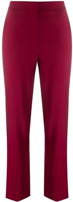 Roksanda High Waisted Side-Stripe Silk Trousers