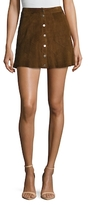 A.L.C. Bogart Leather Seamed Mini Skirt