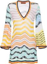 Missoni V-neck knitted zig-zag mini dress