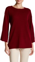 Catherine Malandrino Split Bell Sleeve Cashmere Sweater