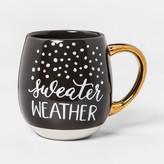 Threshold Stoneware Sweater Weather Mug 17.5oz Brown/White/Gold