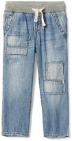 Rip and repair denim pants