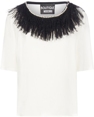 Boutique Moschino Collar-Detailed T-Shirt