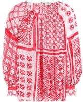 Fendi Printed silk-blend blouse