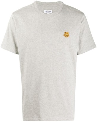 Kenzo tiger-patch cotton T-shirt