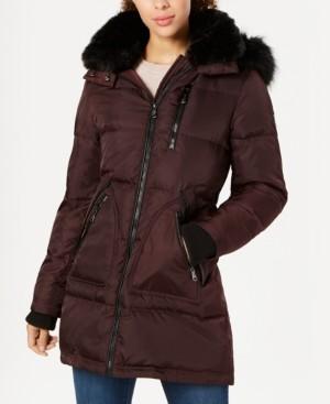 Vince Camuto Petite Faux-Fur-Trim Puffer Coat