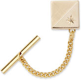 Asstd National Brand Tie Tack with Contrasting Finish and Diamond Accent