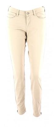 Comptoir des Cotonniers Beige Cotton Trousers for Women