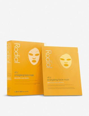Rodial Vit C Energising Sheet Mask pack of four