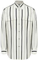 Stella McCartney white striped slay shirt