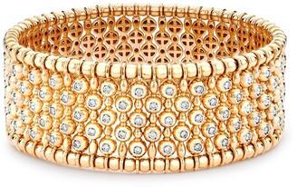 Pragnell 18kt rose gold Bohemia diamond wide bangle