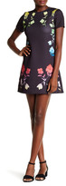 Cynthia Rowley Crew Neck Print Dress