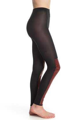 Wolford Barbara Faux Patent Leather Panel Leggings