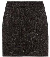 Tibi High-rise Wool-blend Tweed Mini Skirt - Womens - Dark Grey
