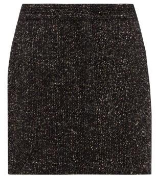 Tibi High-rise Wool-blend Tweed Mini Skirt - Dark Grey