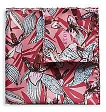 Eton Men's Flower Silk Pocket Square