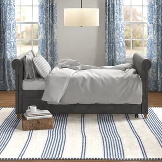 Three Posts Rossburg Daybed with Trundle Color: Gray, Size: Twin