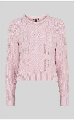 Whistles Cotton Chunky Cable Knit