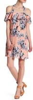 Just For Wraps Off-the-Shoulder Halter Floral Dress