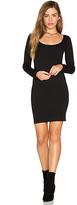 Monrow Long Sleeve Mini Dress in Black