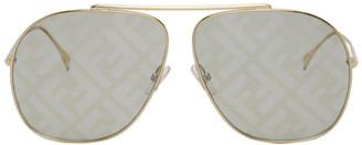 Fendi Gold Forever Aviator Sunglasses