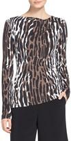 St. John Leopard Safari Print T-Shirt