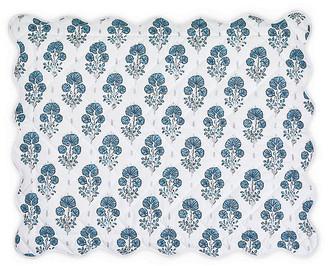 Matouk Lulu DK - Joplin Quilted Sham - Blue Boudoir