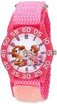 Disney Girl's 'Palace Pet' Quartz Plastic and Nylon Watch, Color:Pink (Model: W002832)