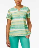 Alfred Dunner Petite Bahama Bays Printed Tunic