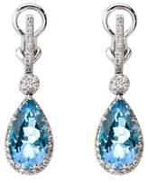 Aspinal of London Hollywood Teardrop Lemon Quartz & Diamond Earrings