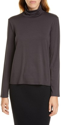 Eileen Fisher Scrunch Neck Top (Regular & Petite)