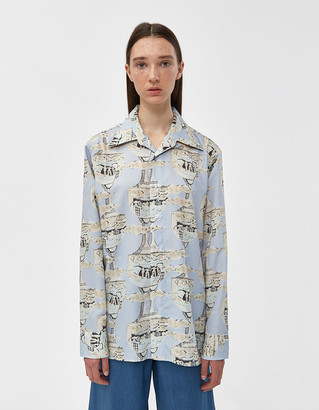 VIDEN Women's Shela Shirt in Light Surrealist, Size Small | 100% Polyester