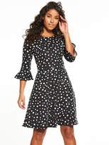 Very Ponte Fluted Sleeve Dress