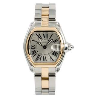Cartier Roadster Silver gold and steel Watches