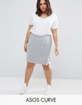 Asos Sweat Skirt with Lace up Detail