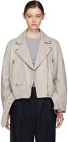 Acne Studios Grey Leather Merlyn Jacket