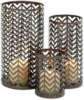 Chevron Metal Candle Holder 3-piece Set