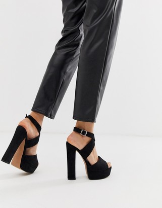 Asos Design DESIGN Hutchinson platform block heeled sandals